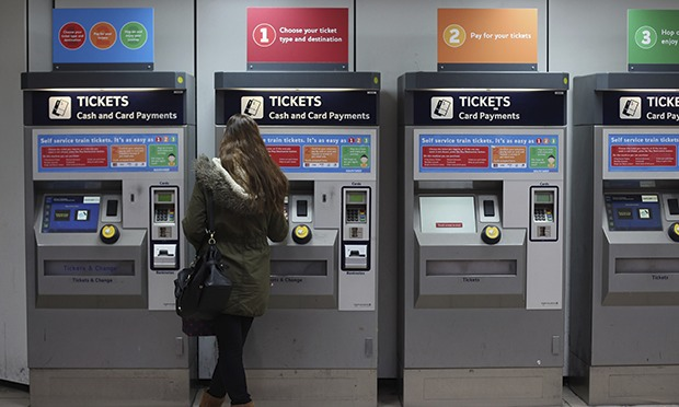 station tickets machines