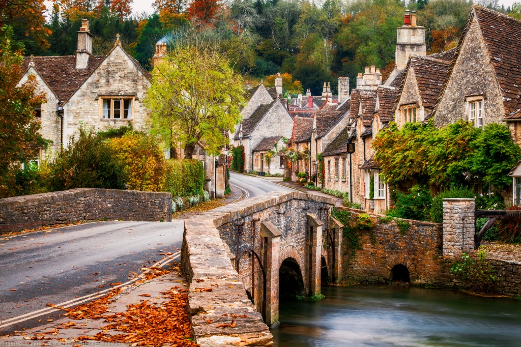 Picturesque Village of Castle Combe in Wiltshire, England in the Autumn-2