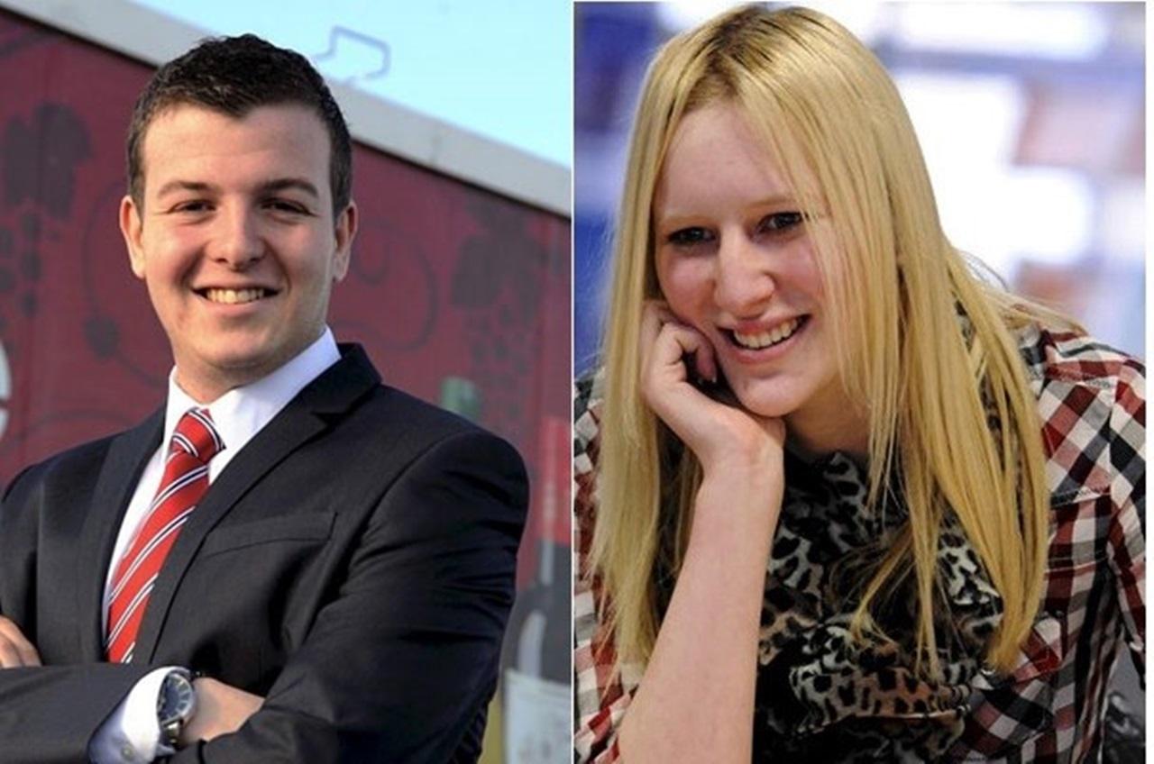 Danny Matthews (trái) và Emma Robinson