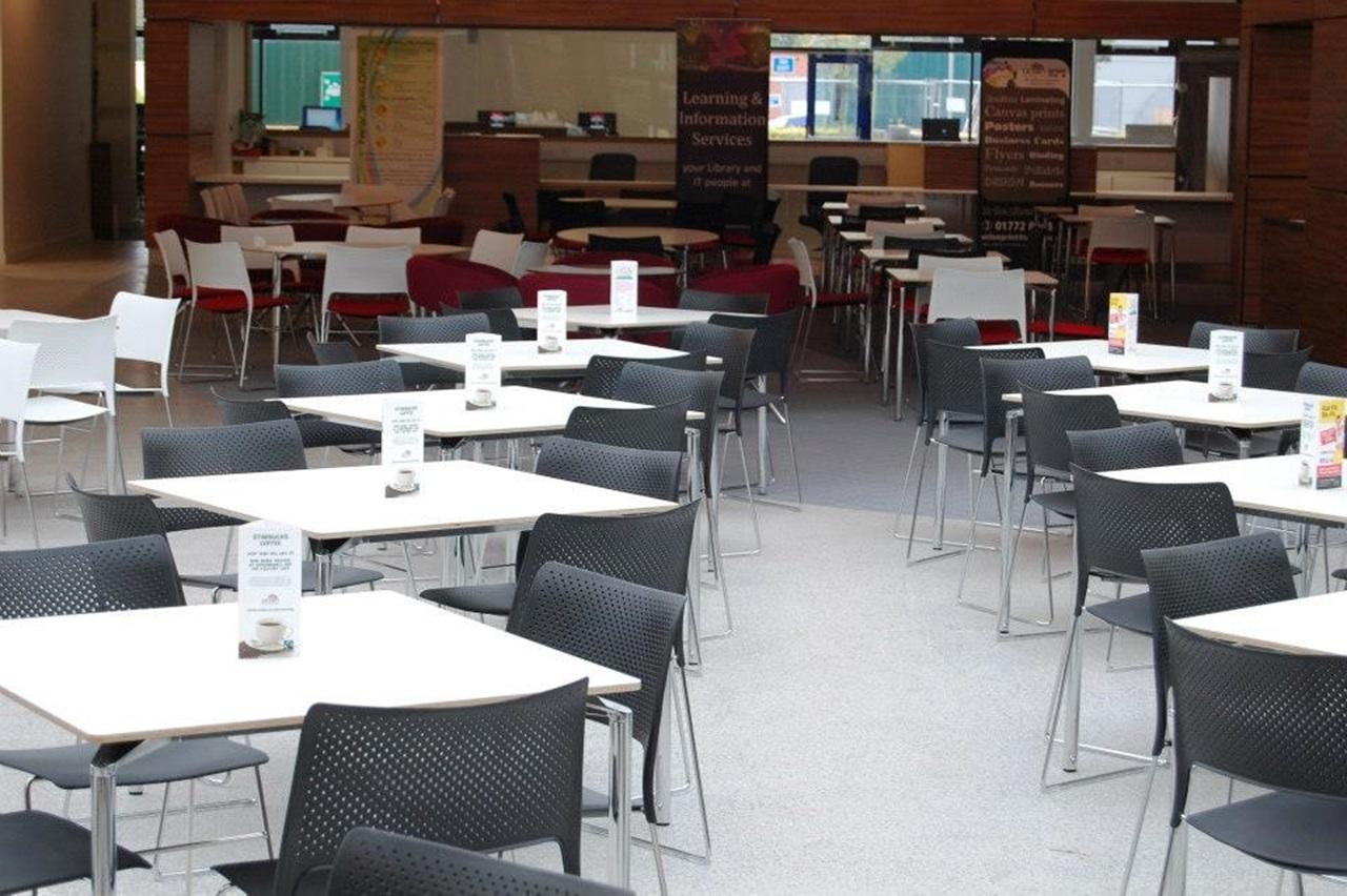 Khu vực nhà hàng, quán café dành cho sinh viên